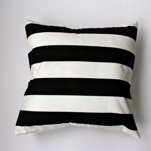 Ikea • Black + White Striped Pillow